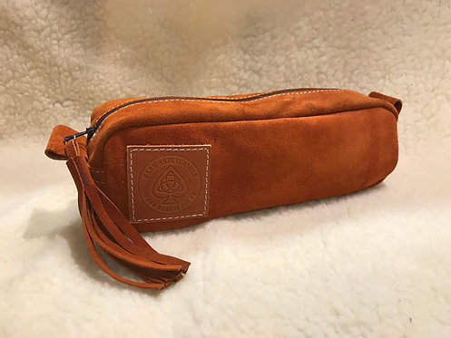 Handmade suede Pencil / Make up brush Case