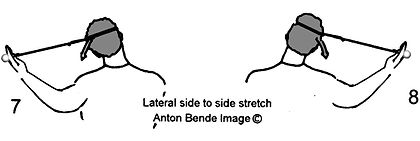 Handheld Neck & Shoulder exercise; Lateral side to side stretch