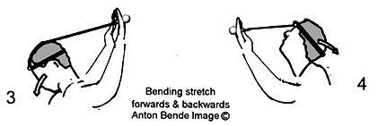 Handheld neck & shoulder gym; Bending stretch forwards & backwards