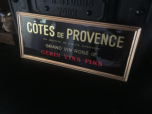 Four French Wine Advertising Signs  £120.00