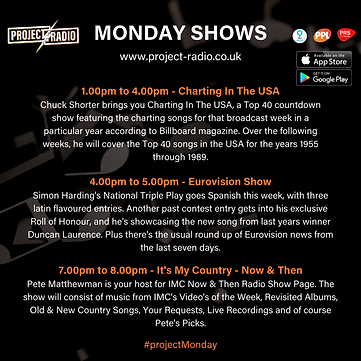 Monday Shows