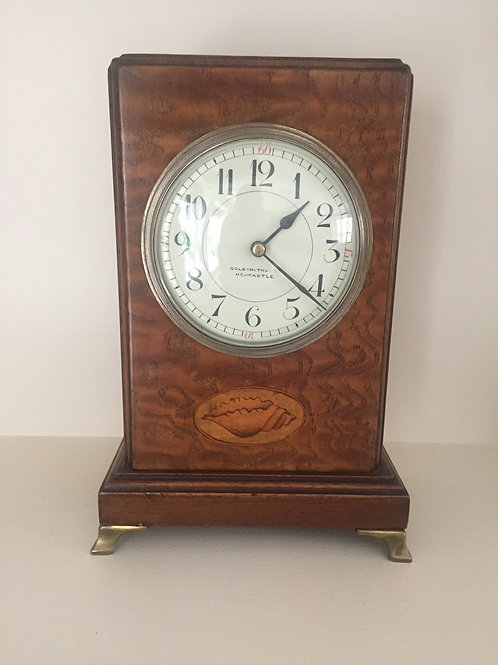 Sheraton Shell Mantlepiece Clock   £135.00