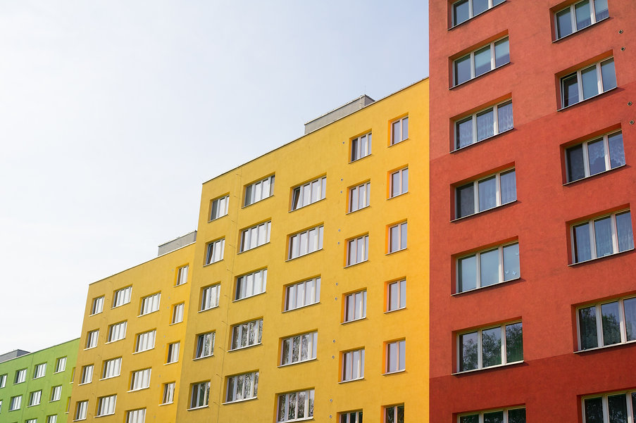 Renovated and renewed complex of blocks