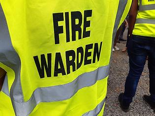 Yellow jacket showing fire warden on dut