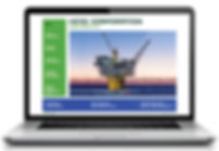 Hess 2014 annual report online on laptop