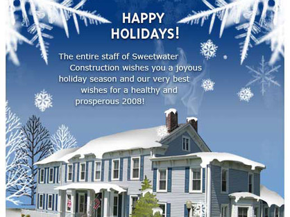Sweetwater Construction - 2008 Holiday Card