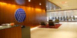 TransRe office reception logo
