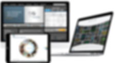 ISE online microsites on laptop annd tablet