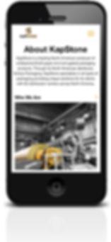 KapStone online microsite on cellphone