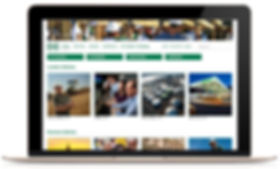 Hess microsite on laptop