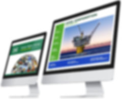 Hess online content on monitors