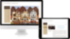 W.R. Berkley website on monitor and tablet