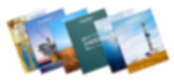 Hess annual reports print covers