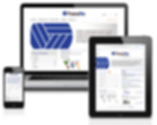TransRe website on laptop, tablet, and cellphone