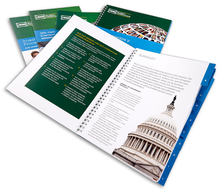 Hess financial reports print