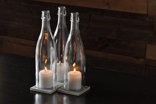 Chardonnay Candle Centerpiece