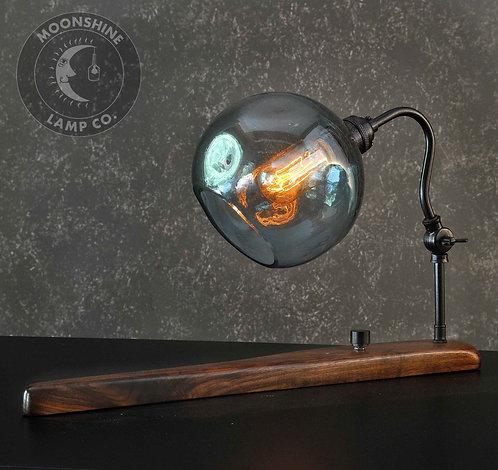 The Cambria Blown Glass Desk Lamp