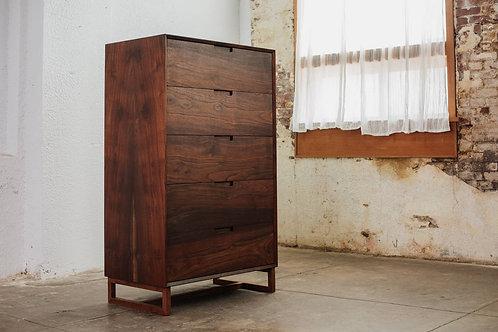 Tall Modern Dresser- 5 Drawer