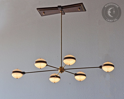 Avalon Modern Brass Chandelier