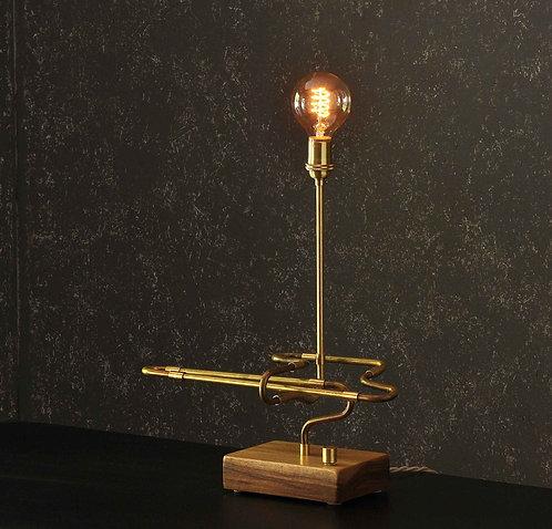 #1 - The Contour Series Brass Pipe Desk Lamp