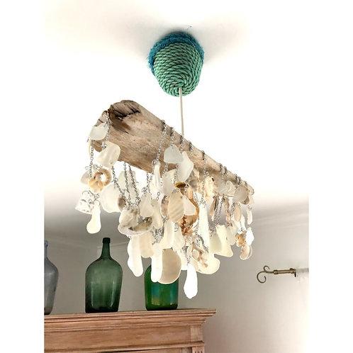 Driftwood Sea Glass Chandelier