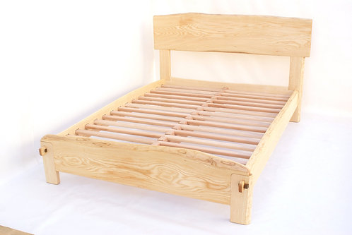 Ash Live Edge Bed - any size