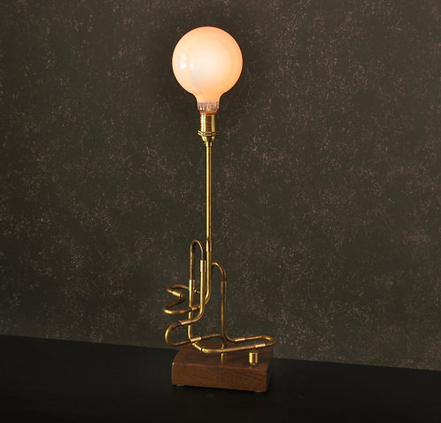 #4 - The Contour Series Brass Pipe Desk Lamp