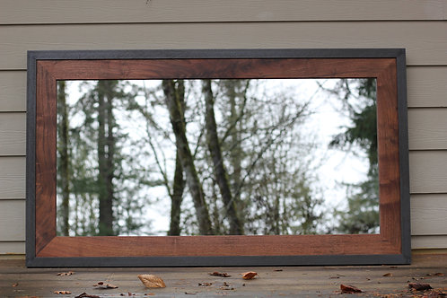 Metal and Wood Mirror