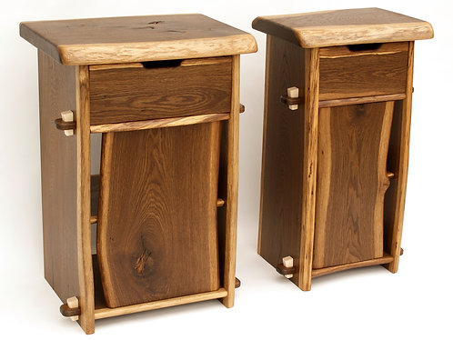 Live Edge Nightstand Pair