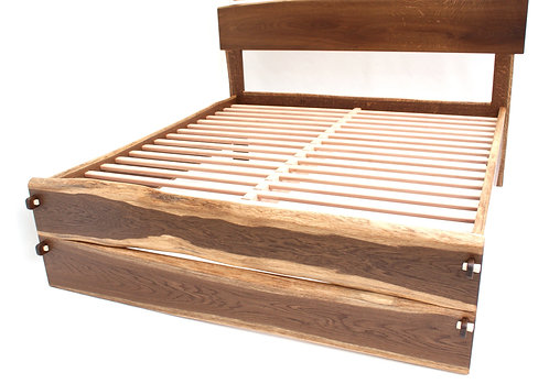Double Slabfoot Live Edge Bed Any Size