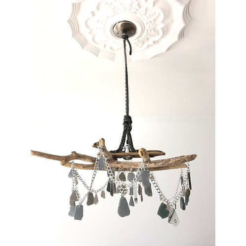 Driftwood & Sea Glass Chandelier