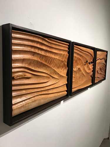 Cherry and Wenge Topography Wall Sculpture