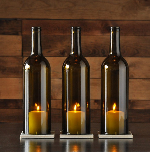 Green Cabernet Style Candle Centerpiece