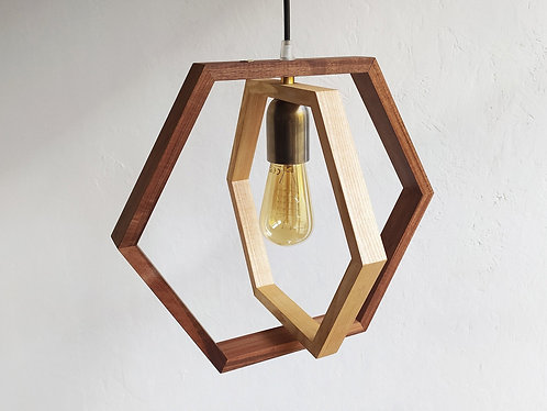 Double Hex Pendant Lamp