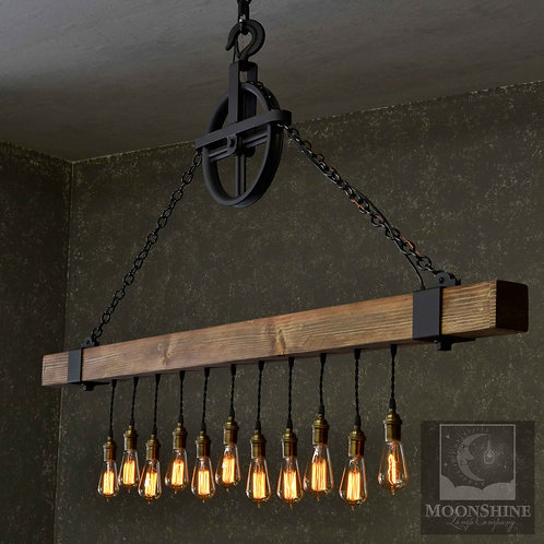 Dunsmuir Rustic Farmhouse Chandelier