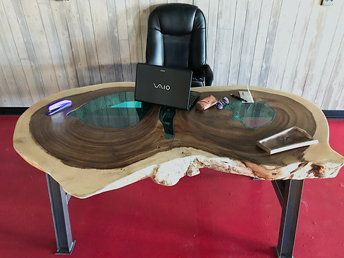 Live Edge Parota Desk