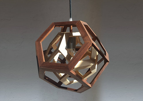TRAPPED - wood pendant light