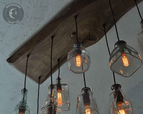 The Big Sur Bottle Chandelier