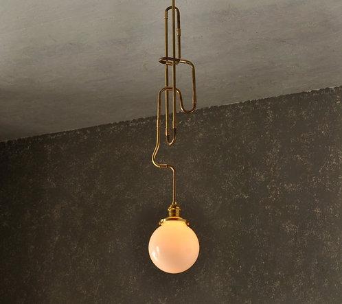 Interweaving Brass Pipe Pendant - The Contour Series