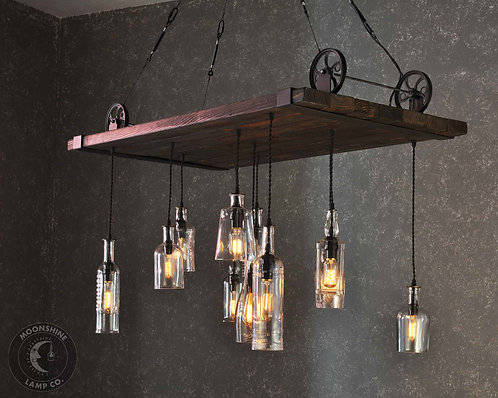 Chesapeake Reclaimed Wood Chandelier - Large Format