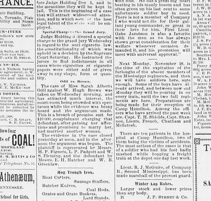 odill vs brown firsh public release 1898