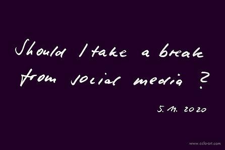 should i take a breake