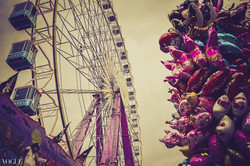 The wheel and the pink horses