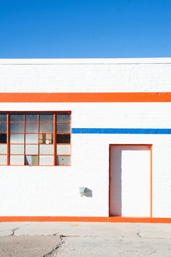 Orange blue lines
