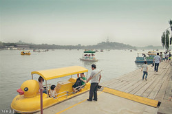 Yellow duck boat