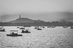 Boating on the Lake in Beihai Park