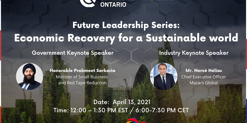 Future Leadership Series: Economic Recovery for a Sustainable World