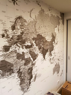 Map wallpaper feature wall