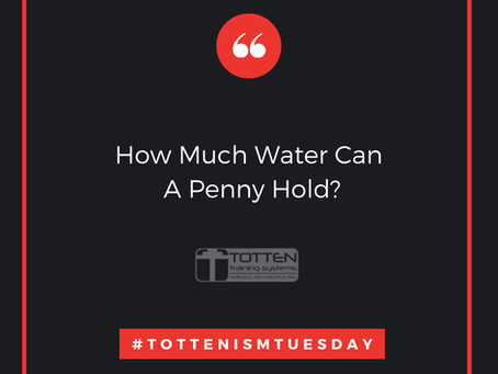Tottenism Tuesday: How Much Water Can A Penny Hold?