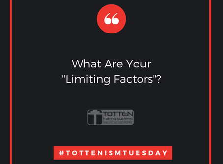 Tottenism Tuesday: What Are Your Limiting Factors?